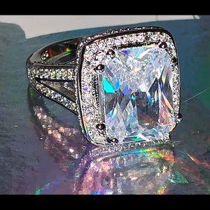 10 Carat Lab Diamond 925 Silver Ring